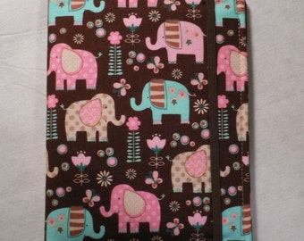 Kindle cover Hardcover, Kindle Paperwhite Cover, iPad Mini, Nook Tablet Cover,  Book Style, Baby Elephants