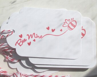 Bee Mine Valentine Gift Tags, Bee Mine Gift Tags, Bee Valentine Gift Tags