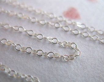 Shop Sale.. 10 30 50 100 feet, 15-45% Off Bulk, Flat Cable Chain, 2x1.5 mm, Sterling Silver Oval Cable, wholesale for jewelry, ss s88-10 hp