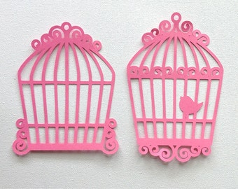 Bird cages die cut embellishments 2 different set of 6 any colour