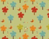 Giraffe Crossing Trees in Green by Riley Blake - 1 Yard