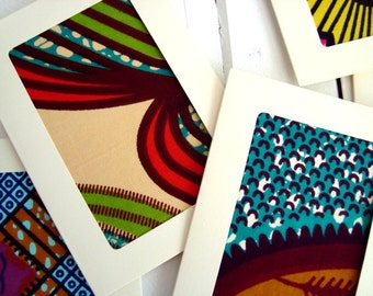 Custom quantity. Wedding-invitations, African wax card set with envelopes, Fabric cards, Unique Wedding invitations, Wedding invites