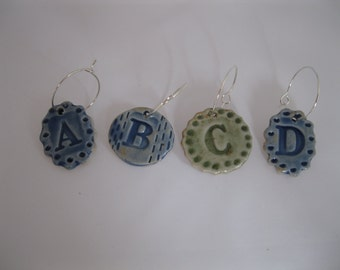 Wine Charms with Letters