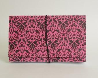 Coupon Organizer Holder| Coupon Storage Organizer| Coupon Organizer  Accordion File Book Hot Pink Damask