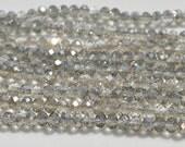 Crystal Smokey Quartz Colored 4 x 6mm Rondelle Beads BD237