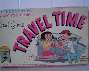 Vintage Travel Time Card Game Circa 1965