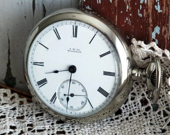 Antique Waltham P S Bartlett Mens Pocket Watch 1881 by avintageobsession on etsy...20% Discount