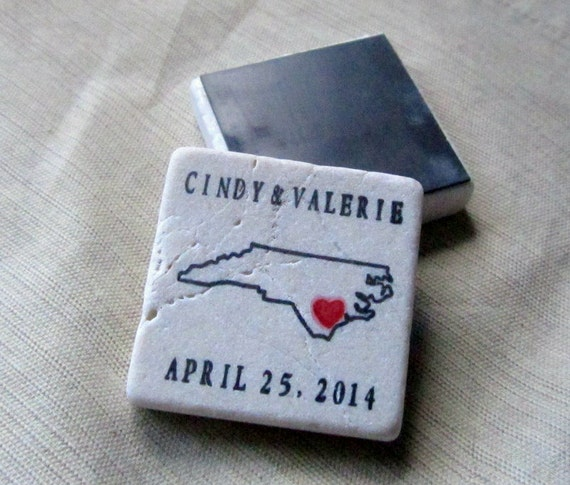 State Outline Save the Date Magnets, Wedding Favors, Set of 25
