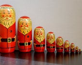 Santa Claus - Nesting doll - Wooden eco friendly Russian Doll - Christmas Gift -  Holidays - gifts