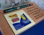 50% OFF,  Desk Set, Desk, Note Pad Holder, Pen Holder, Wood Premium, Engraved, Personalized Engraving