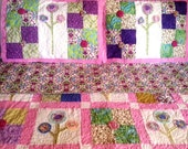 Amelia's Garden: full size bed quilt with shams