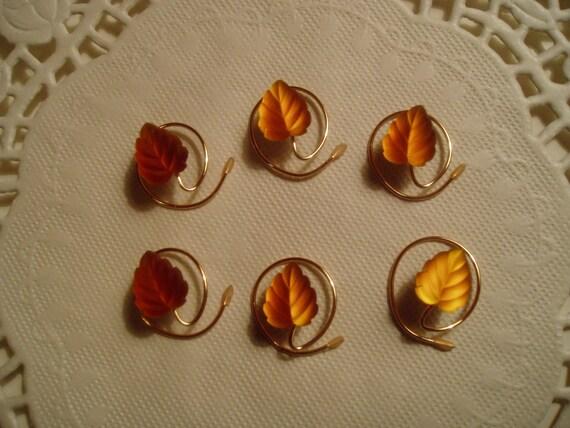 Leaf HAIR SWIRLS in Glowing Amber Glass with Matte Finish Hair Spins Spirals Coils Twists Twisties