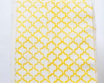 Sale 1 yard of indian Hand block printed fabric
