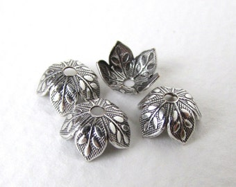 Antiqued Silver Ox Leaf Bead Cap Vintage Style 8mm bcp0038 (6)