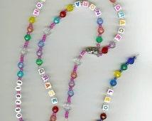 Handmade Children's Personalized Rosary or Baptism/Baptismal Rosary