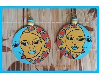 Sol Mate Hand Painted Earrings