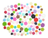 Flower Cabochons 100pcs Mix CLEARANCE at bargain price