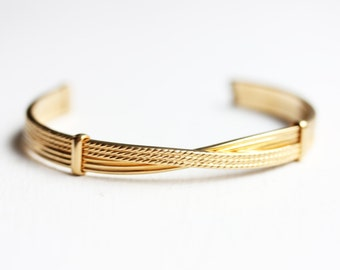 Twisted Gold Cuff, Gold Cuff, Twist Cuff, Small Cuff, Avon Cuff, Avon Bracelet, Gold Bracelet, Gold Cuff Bracelet, Small Bracelet, Cuff