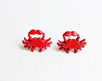 Red Crab Studs