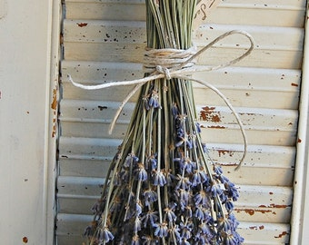 Ten -  Bunches Dried Lavender /  Lavender Bouquet / French Lavender Bunch / Wedding Decor