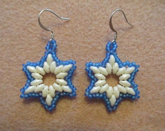 Winter Wonderland Snowflake Earrings PDF Bead Weaving Tutorial (INSTANT DOWNLOAD)