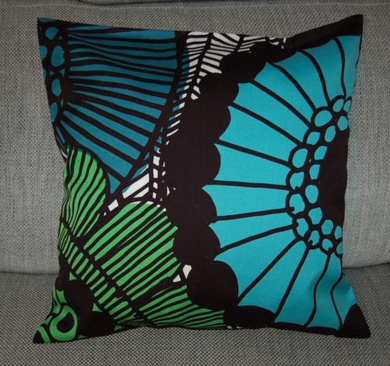 "Siirtolapuutarha Throw Pillow Cushion case, 20x20"", 50x50cm, Finland"