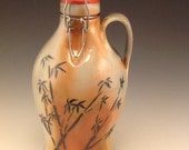 Soda Fired Growler with Bamboo Brushwork