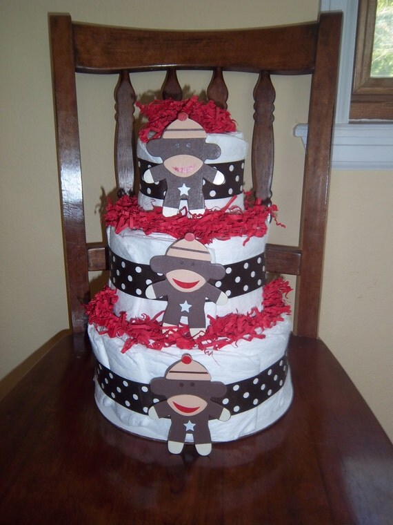 How To Make A Two Tier Diaper Cake