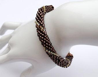 Dark Bronze Beaded Bracelet