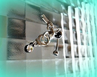 Gun Cuffs Belly Ring, Trendy Belly Rings,Trending Belly Rings, Piercing, Hipster Belly Ring,Beach Belly Ring, Ready to Ship, Direct checkout