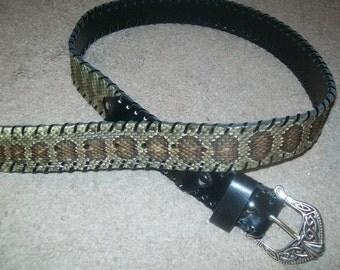 Rattlesnake Skin Belt