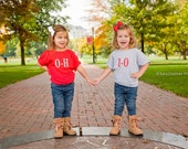 Cool T-shirt Duo For Little Ohio State Football Fans, Custom Shirts For Kids, Cute Kids Clothing To Get Them Ready For Gameday