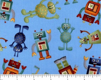 SPACE ALIENS #873 all over robot by Andover Fabrics - By the yard