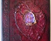 Handmade Journal Refillable Black Cherry Sea Jewel 7x5 Original