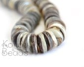 Unpolished Hammer shell Oyster heishi 15mm Shell beads