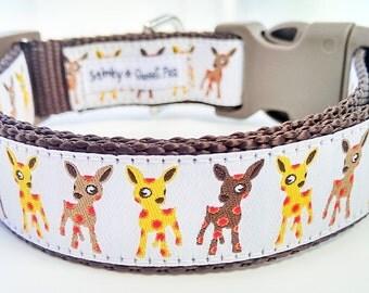 Spotted Little Deer - Dog Collar / Handmade / Pet Accessories / Adjustable