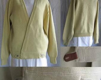 Vintage Celery Colored Wool Sweater