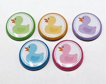 Baby Ducks - Set of 5 Pinback Buttons Badges 1 inch