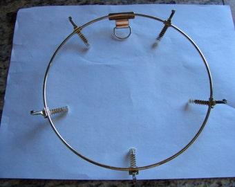 "Bargain Plate Holder 8"" Wall Mounting Bracket Brass"