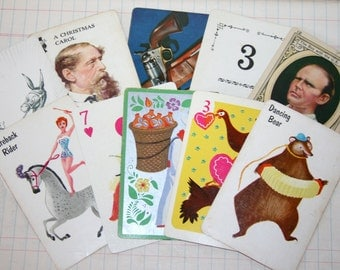 Set of 10 Vintage Playing Cards