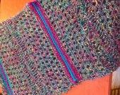 Aurora Borealis Knit Shawl/Wrap