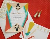 Art Deco Invitation Suite -  Reply Card