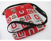 OSU Cross Body Bag, OSU Wristlet Clutch, Zippered Top, Zippered Inside Pocket, Buckeyes Wristlet