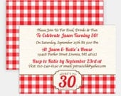"OUTDOOR BIRTHDAY - Printable 5""x7"" Party Invitation -, Rustic Outdoor Collection by Make Life Cute"