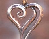 Loving Kindness Pendant / Heart Jewelry, Spiritual, Symbolic Jewelry