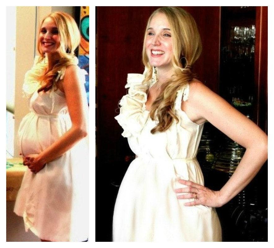 baby shower dress maternity custom size boho ruffle bow