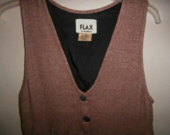 FLAX by ANGELHEART Small Jumper Dress Wool Linen Rayon Blend