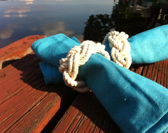 Nautical Napkin Rings - 2 Napkin Rings - Nautical Table Decor - Great for Wedding Gift or Hostess Gift