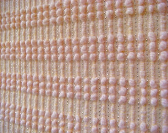 Morgan Jones Blush Pearl Stripe Vintage Chenille Fabric 18 x 24