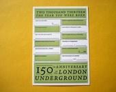 London Baby Celebration Card - Letterpress - Royal Baby